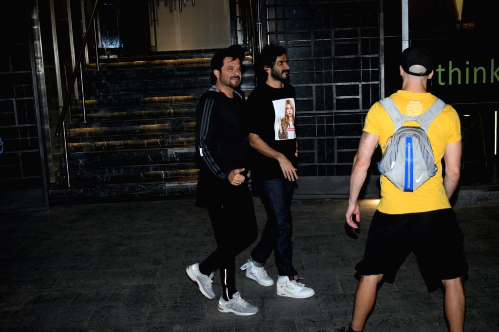 Actor Anil Kapoor and his son-actor Harshvardhan Kapoor seen in Mumbai's Juhu, on May 26, 2019. - Anil Kapoor and Harshvardhan Kapoor