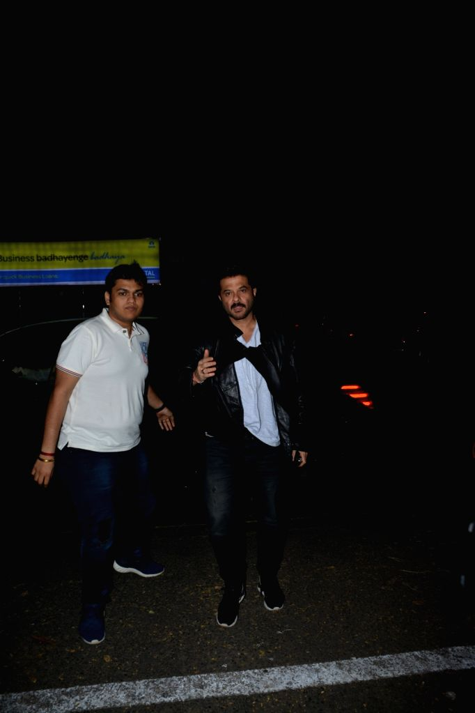 Actor Anil Kapoor at the actress Padmini Kolhapure's birthday party in Mumbai on Nov. 1, 2018. - Anil Kapoor