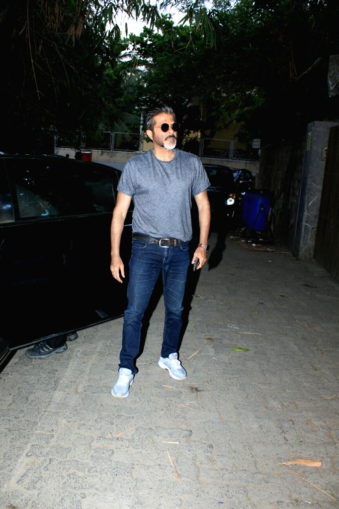 """Actor Anil Kapoor at the special screening of upcoming film """"Blackmail"""" in Mumbai on April 3, 2018. - Anil Kapoor"""
