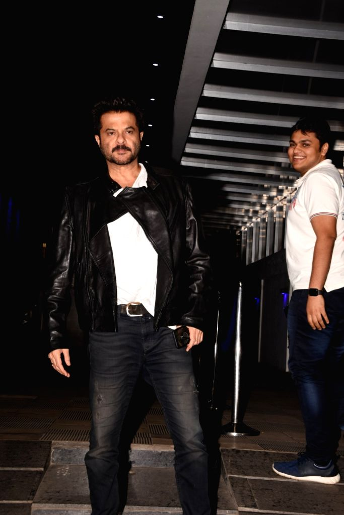 Actor Anil Kapoor during actress Padmini Kohlapure's birthday bash in Mumbai on Oct 31, 2018. - Anil Kapoor
