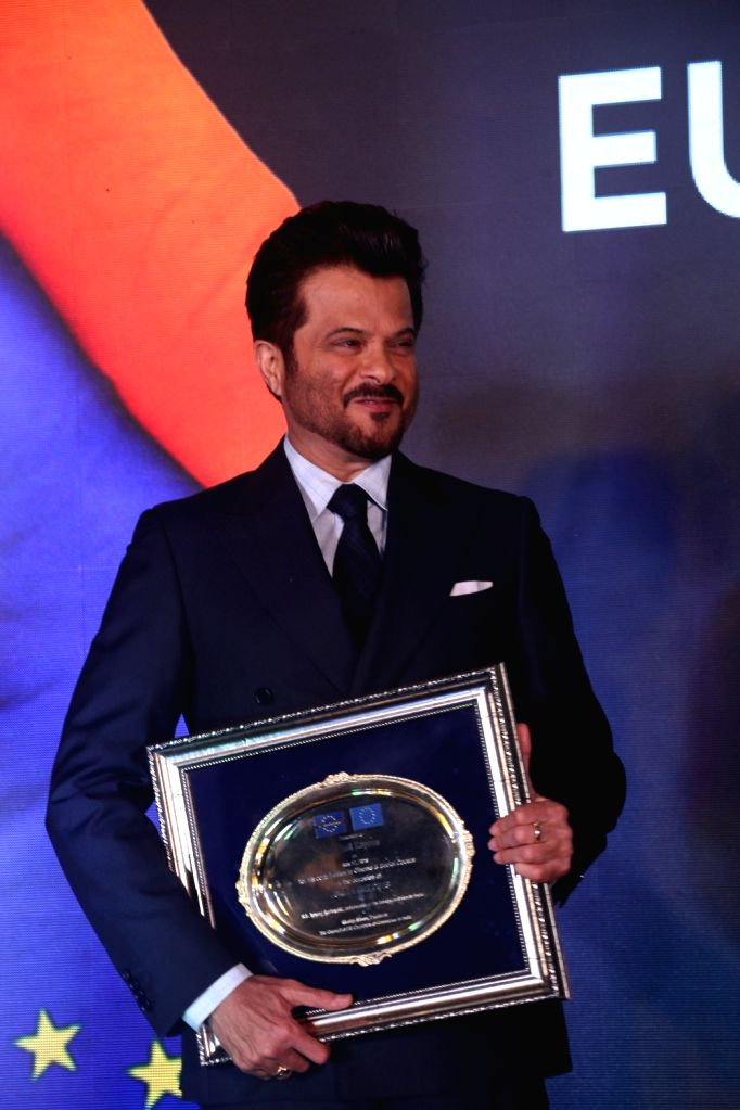 Actor Anil Kapoor during 'Europe Day' celebrations where he was felicitated by the Council of European Chambers of Commerce (CEUCC) in India and an European Union delegation, in Mumbai on May ... - Anil Kapoor
