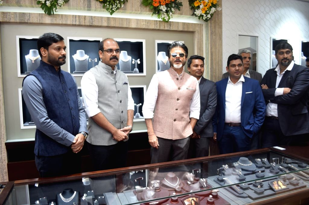 Actor Anil Kapoor during the inauguration of a jewellery store in Noida on Feb 18, 2018. - Anil Kapoor