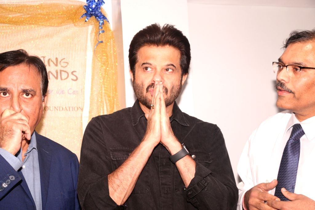 Actor Anil Kapoor during the inauguration Tata Memorial hospital's pediatric OPD, in Mumbai on Feb 9, 2019. - Anil Kapoor