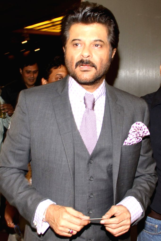 Actor Anil Kapoor during the ' Invitational Championship' prize distribution ceremony organised by Yes Bank Golf Foundation in New Delhi on May 4, 2014. - Anil Kapoor