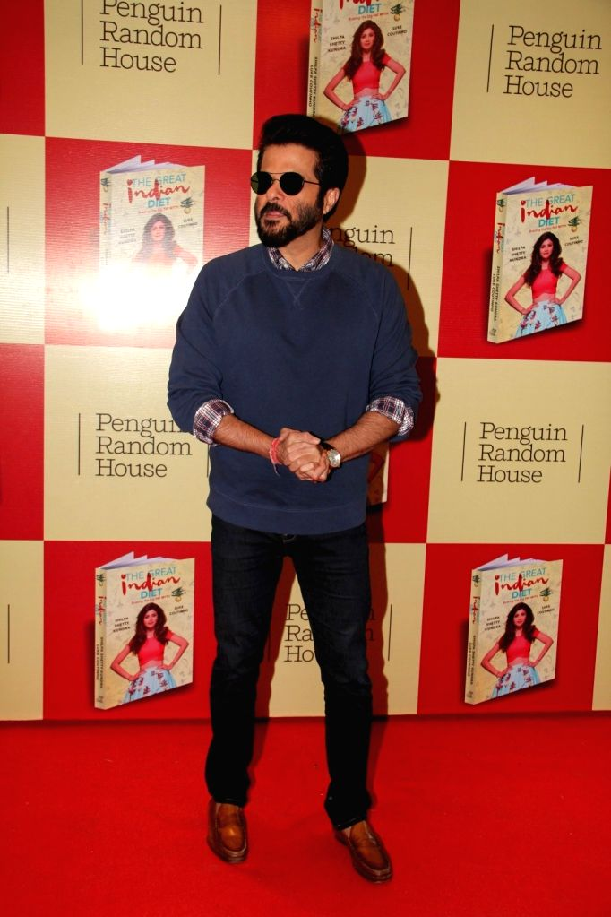 Actor Anil Kapoor during the launch of Shilpa Shetty`s book The Great Indian Diet in Mumbai, on Nov 19, 2015. - Anil Kapoor