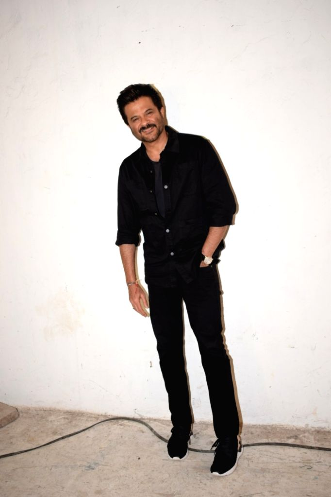 """Actor Anil Kapoor during the media interaction of his upcoming film """"Race 3"""" at Mehboob studio in Bandra, Mumbai on May 19, 2018. - Anil Kapoor"""