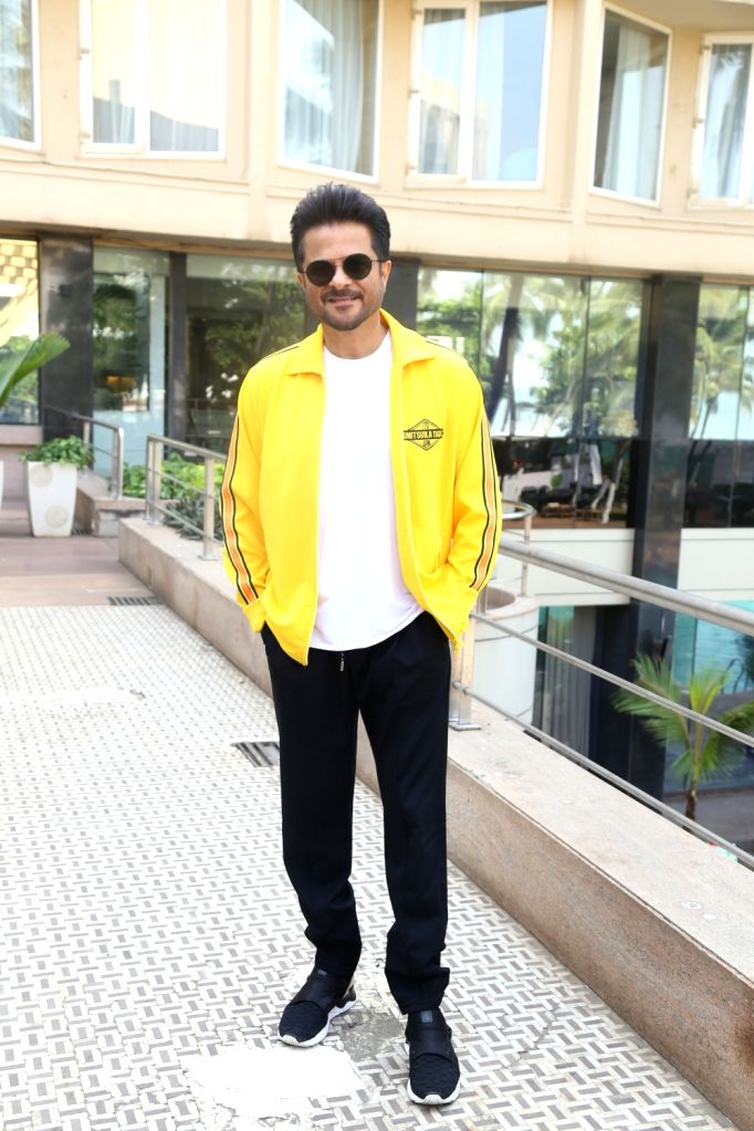 """Actor Anil Kapoor during the promotions of his upcoming film """"Pagalpanti"""" in Mumbai on Nov 14, 2019. - Anil Kapoor"""