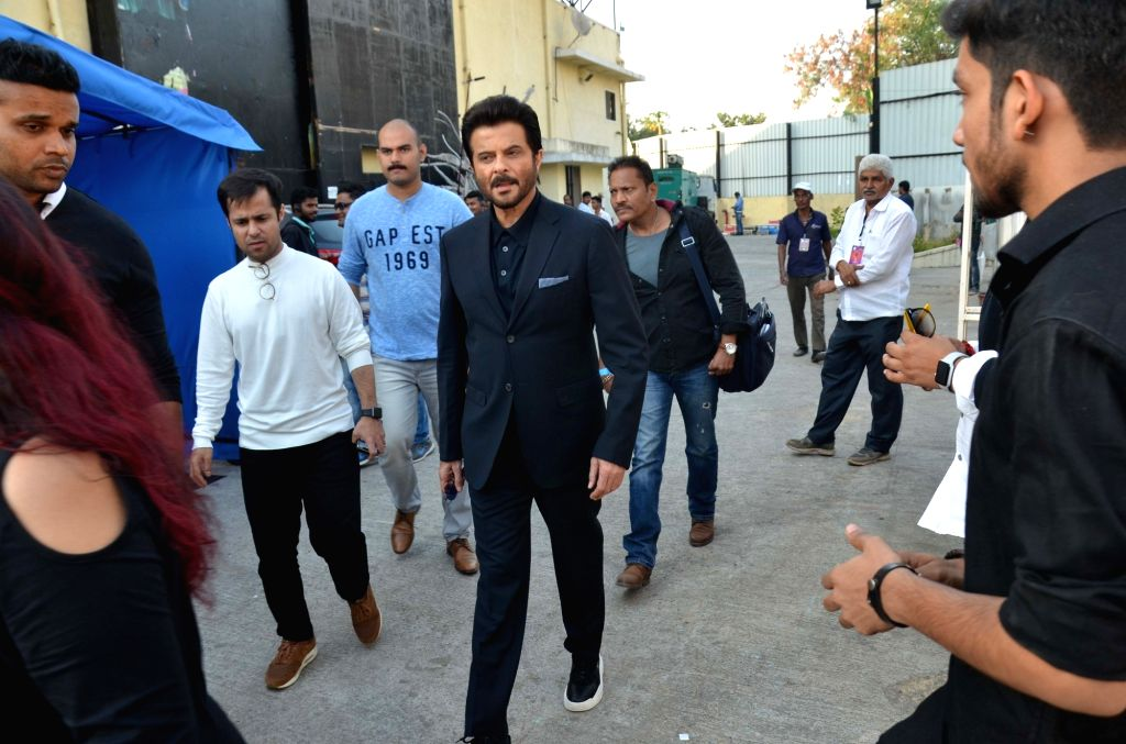 "Actor Anil Kapoor on the set of ""Sa Re Ga Ma Pa Lil Champs"" during the promotion of his upcoming film ""Total Dhamaal"" in Mumbai, on Feb 16, 2019. - Anil Kapoor"