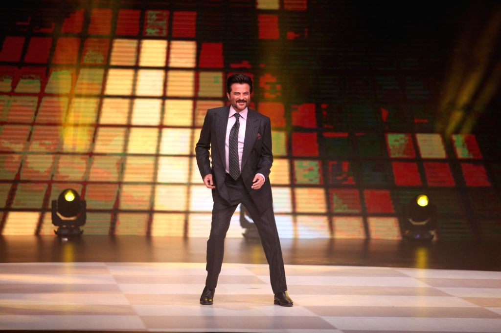"""Actor Anil Kapoor on the sets of dance reality show """"Dance Deewane"""" in Mumbai's Juhu on May 20, 2018. - Anil Kapoor"""