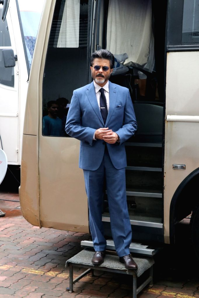 "Actor Anil Kapoor on the sets of reality television show ""Dance Deewane"" in Mumbai on July 23, 2018. - Anil Kapoor"