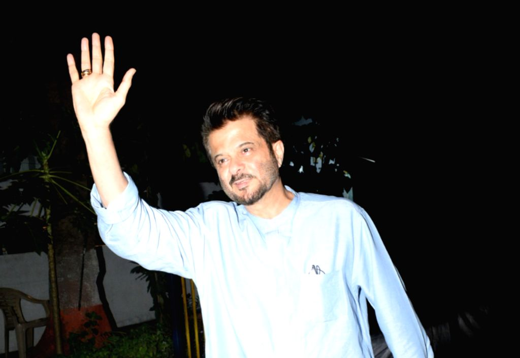 Actor Anil Kapoor seen at his mother's residence in Lokhandwala, Mumbai on May 13, 2019. - Anil Kapoor