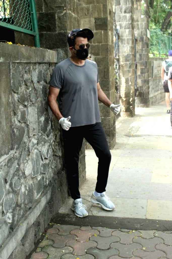 Actor Anil Kapoor seen at Juhu in Mumbai on Oct 29, 2020. - Anil Kapoor