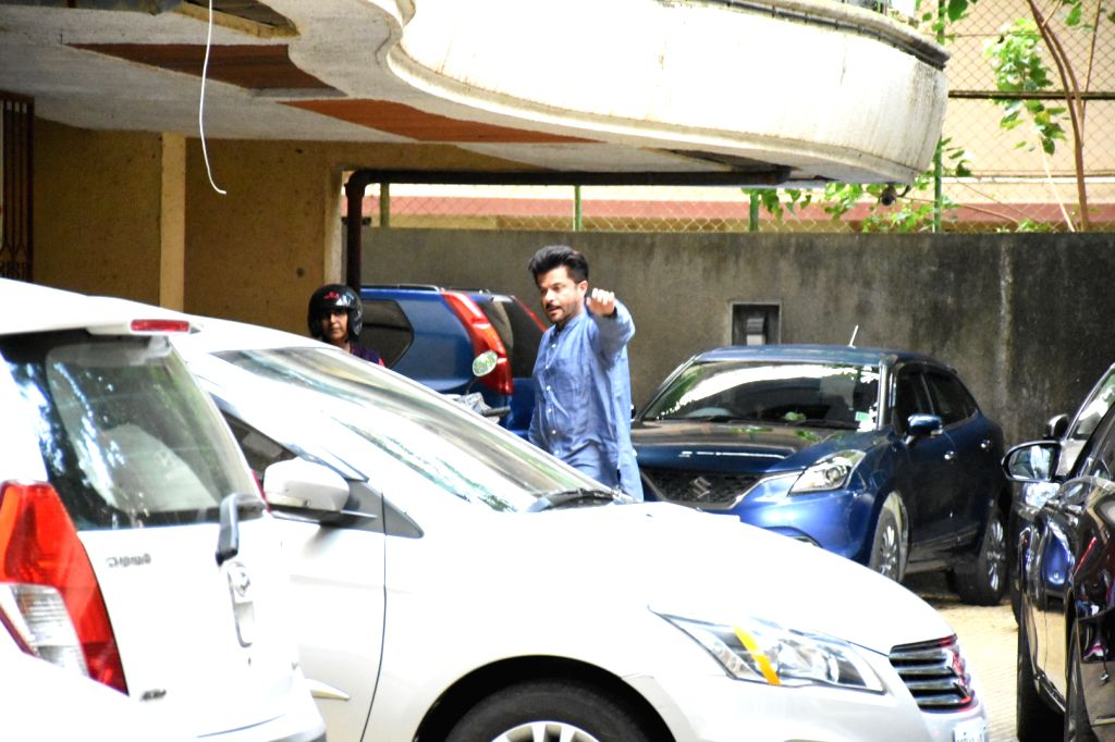 Actor Anil Kapoor seen at the residence of actor Rishi Kapoor at Bandra in Mumbai on Sep 22, 2019. - Anil Kapoor and Rishi Kapoor
