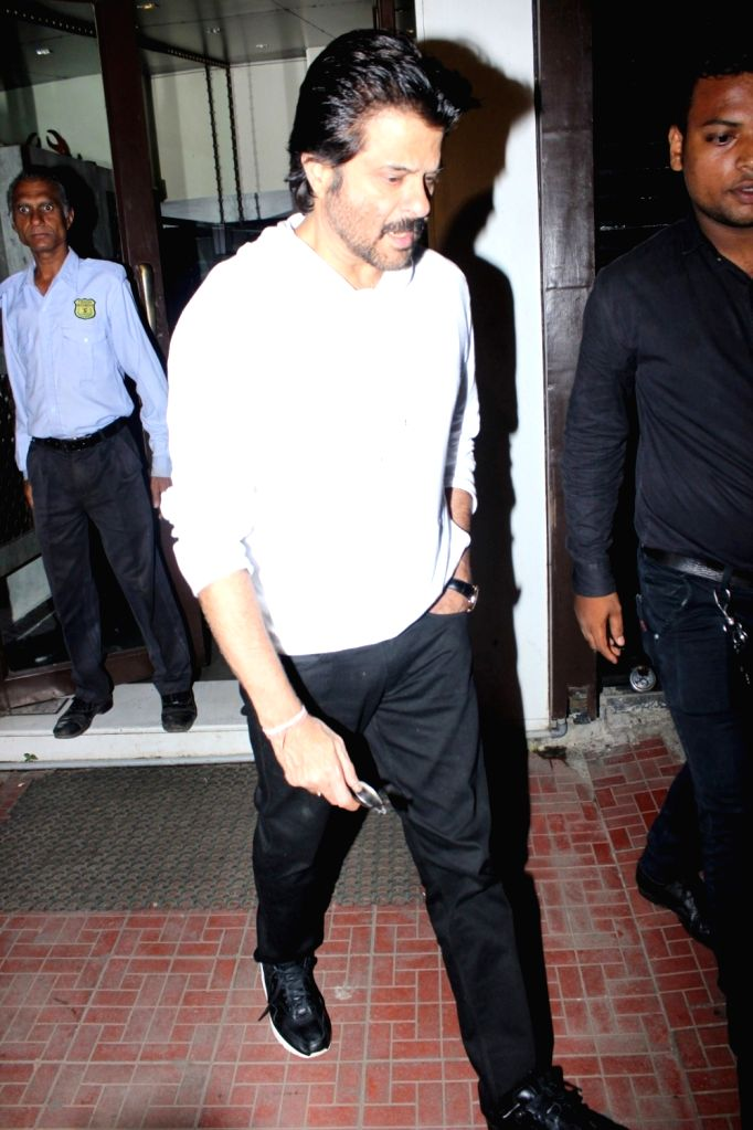Actor Anil Kapoor spotted At Bastian Restaurant in Mumbai  on June 20, 2017. - Anil Kapoor