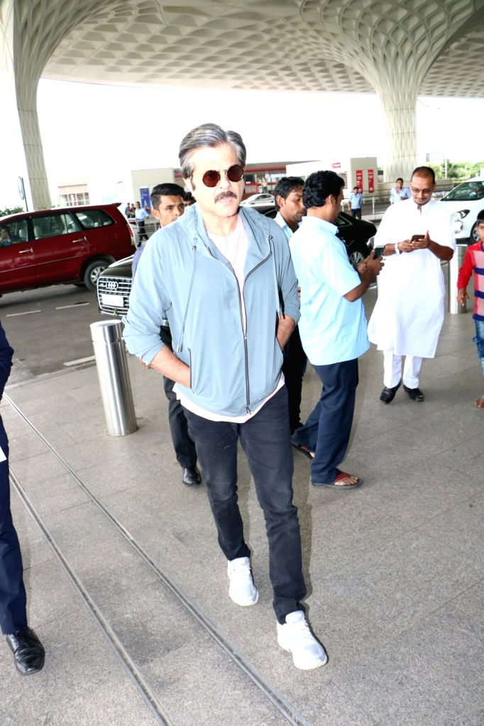 Actor Anil Kapoor spotted at Chhatrapati Shivaji Maharaj International airport in Mumbai. - Anil Kapoor