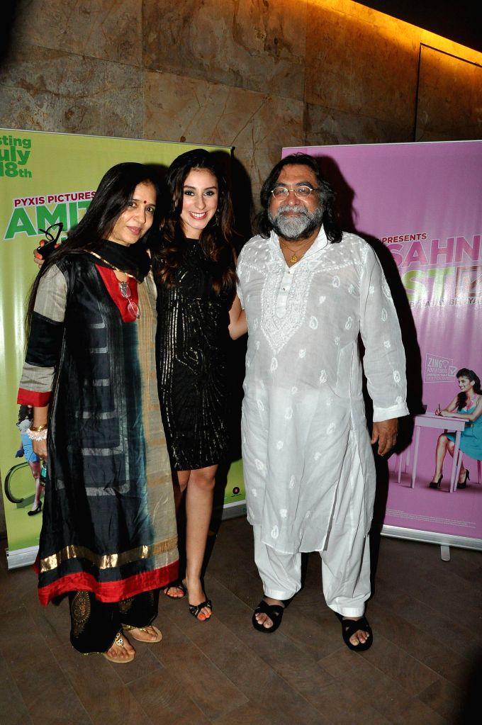 Actor Anindita Nayar during the screening of film Amit Sahni Ki List at Lightbox in Mumbai on July 14, 2014. - Anindita Nayar