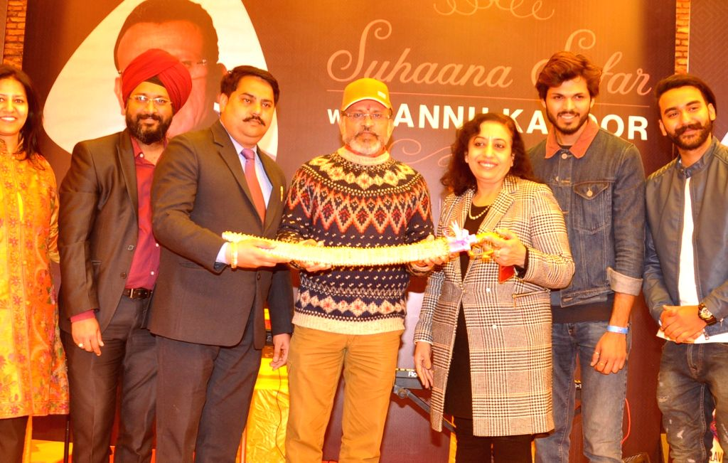 """Actor Annu Kapoor during Big FM's programme """"Suhana Safar with Annu Kapoor"""" at Sadda Pind in Amritsar, on Feb 6, 2019. - Annu Kapoor"""
