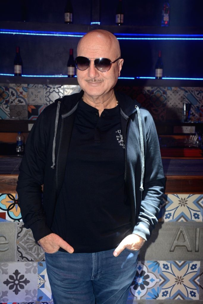 "Actor Anupam Kher at the promotion of  his upcoming film ""Baa Baaa Black Sheep"" in Mumbai on Feb 13, 2018. - Anupam Kher"