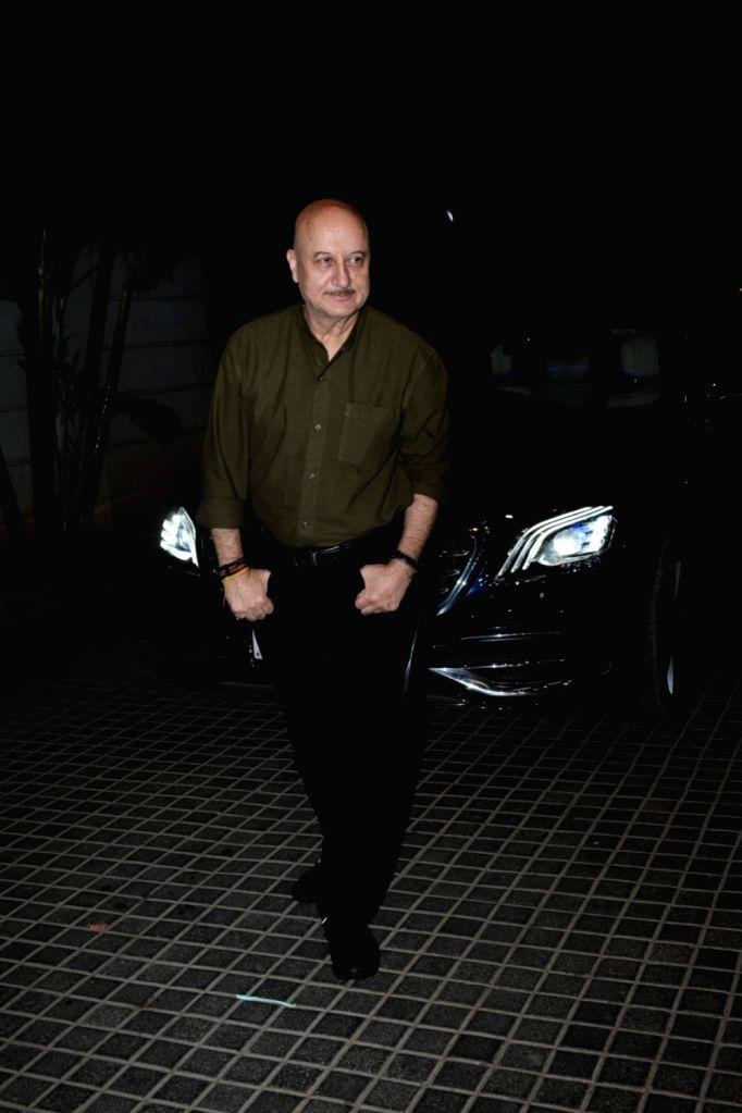"Actor Anupam Kher at the screening of upcoming film ""India's Most Wanted"" in Mumbai, on May 20, 2019. - Anupam Kher"