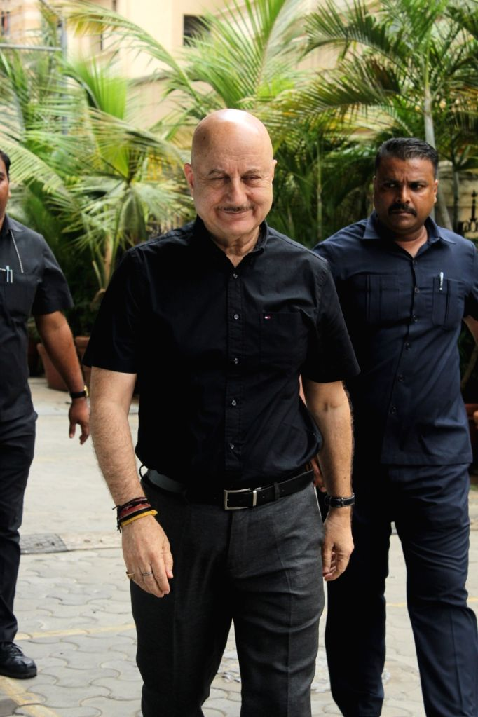 """Actor Anupam Kher at the trailer launch of his upcoming film """"One Day: Justice Delivered"""", in Mumbai, on May 21, 2019. - Anupam Kher"""