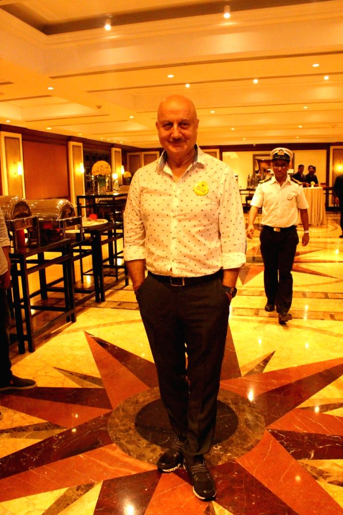 Actor Anupam Kher during a programme organised to celebrate 'World No Tobacco Day', in Mumbai on May 30, 2018. - Anupam Kher