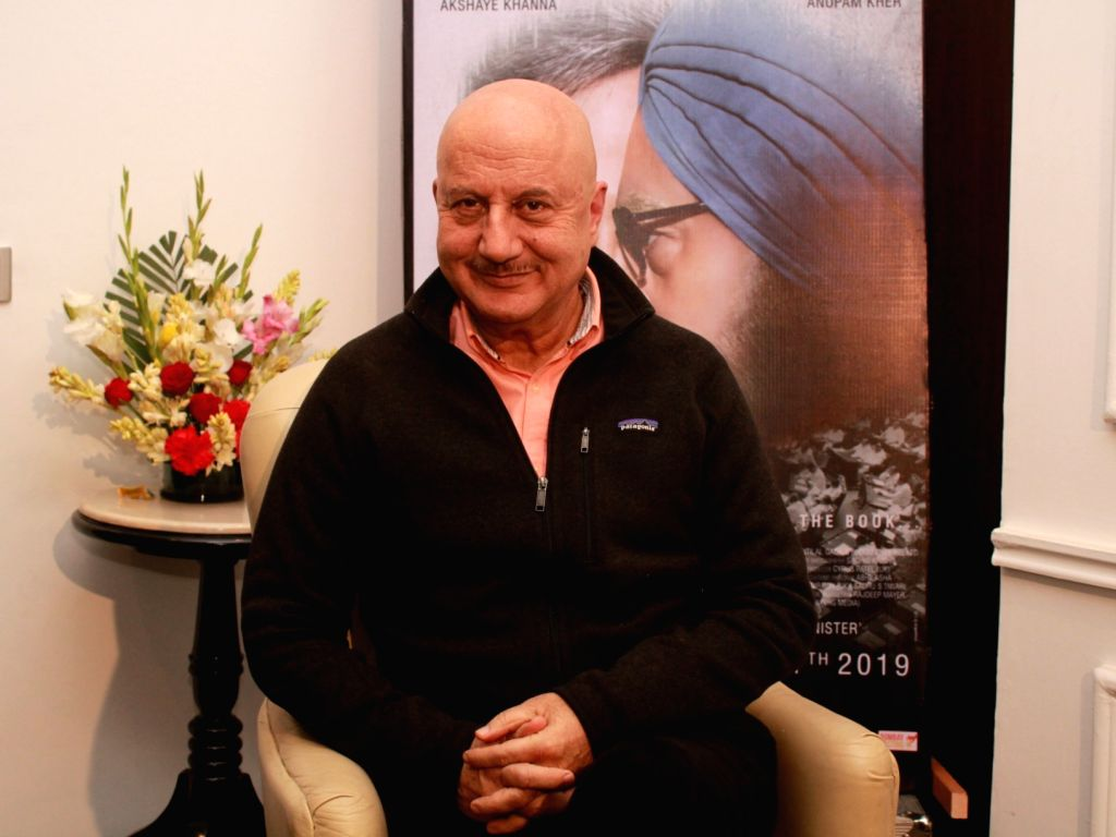 "Actor Anupam Kher during a programme organsied to promote upcoming film ""The Accidental Prime Minister"" in New Delhi on Jan 4, 20190 - Anupam Kher"