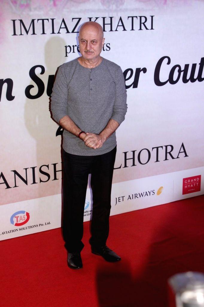 Actor Anupam Kher during the Mijwan Summer 2017 fashion show during the Mijwan Summer 2017 fashion show in Mumbai on March 5, 2017. - Anupam Kher