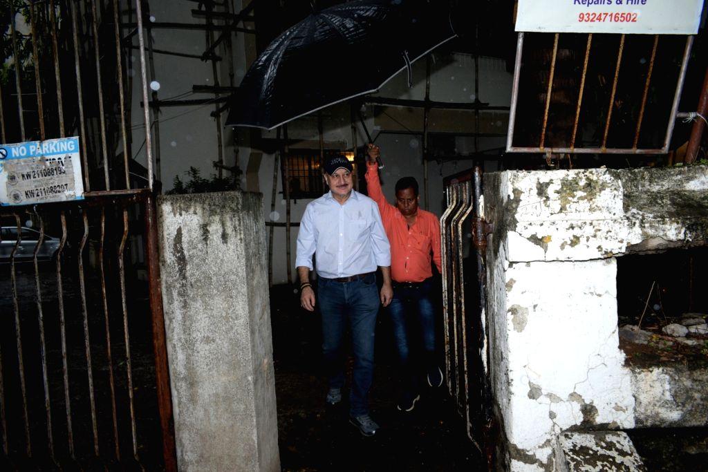 Actor Anupam Kher seen at Juhu, in Mumbai on June 18, 2019. - Anupam Kher