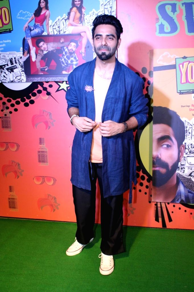 "Actor Aparshakti Khurana  during the special screening of  web-series ""Yo Ke Hua Bro"" in Mumbai on Aug 16, 2017. - Aparshakti Khurana"