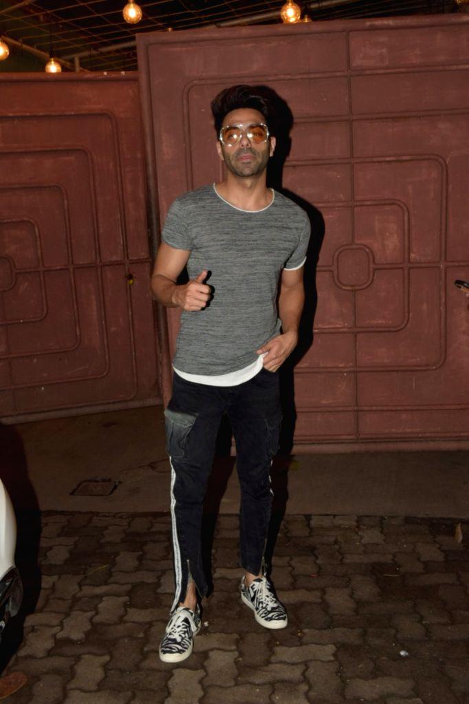 Actor Aparshakti Khurana seen at a recording studio at Juhu in Mumbai on Oct 25, 2019. - Aparshakti Khurana
