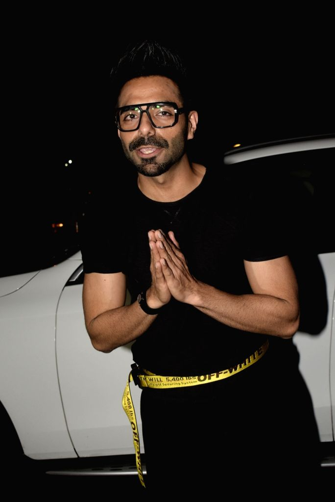 Actor Aparshakti Khurana seen outside a club in Mumbai's Juhu, on March 3, 2019. - Aparshakti Khurana