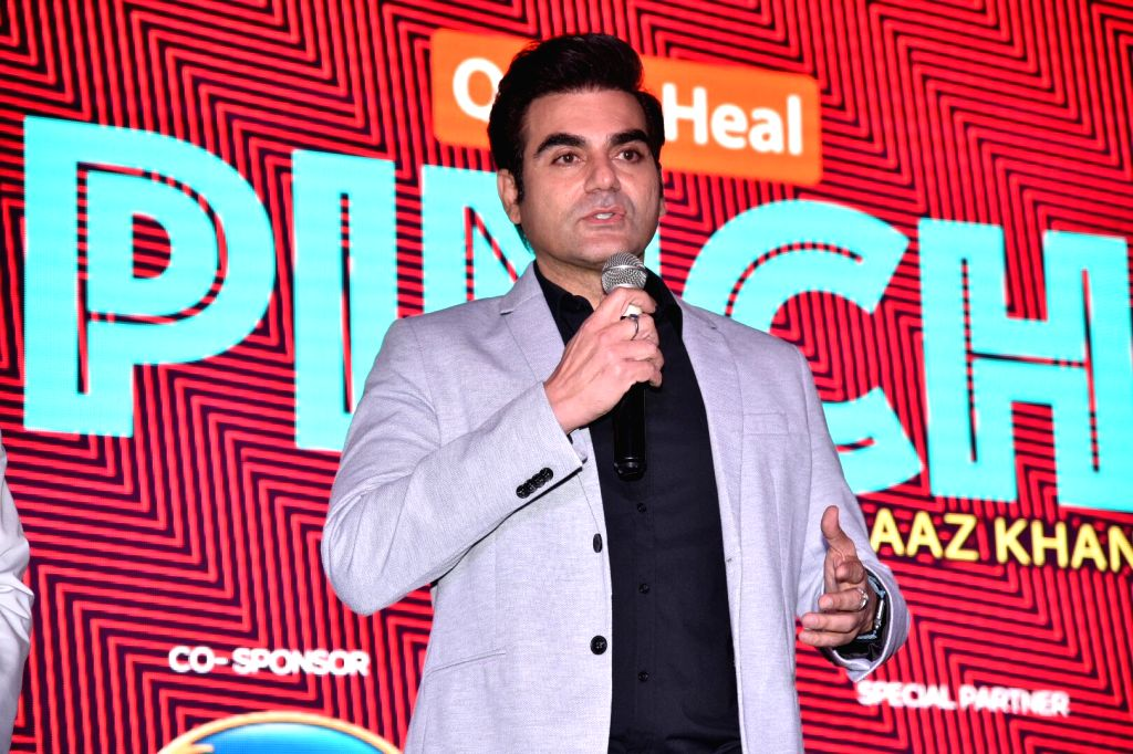 "Actor Arbaaz Khan addresses during the debut of his celebrity chat show ""Pinch"" in Mumbai, on March 6, 2019. - Arbaaz Khan"