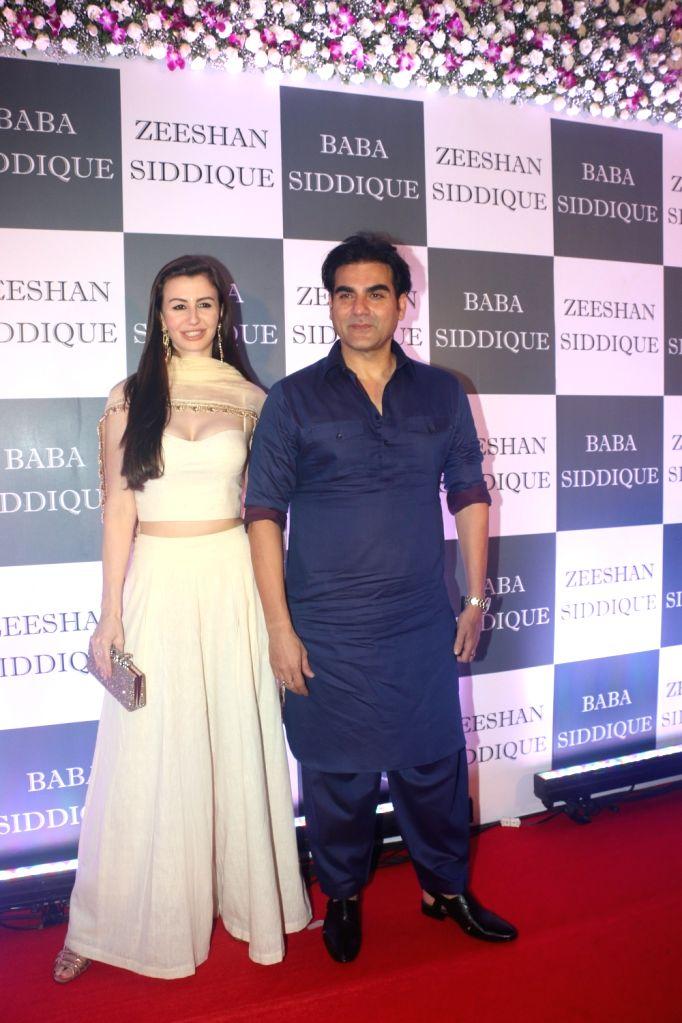 Actor Arbaaz Khan and his girlfriend Giorgia Andriani at Congress leader Baba Siddique's Iftar party in Mumbai, on June 2, 2019. - Arbaaz Khan