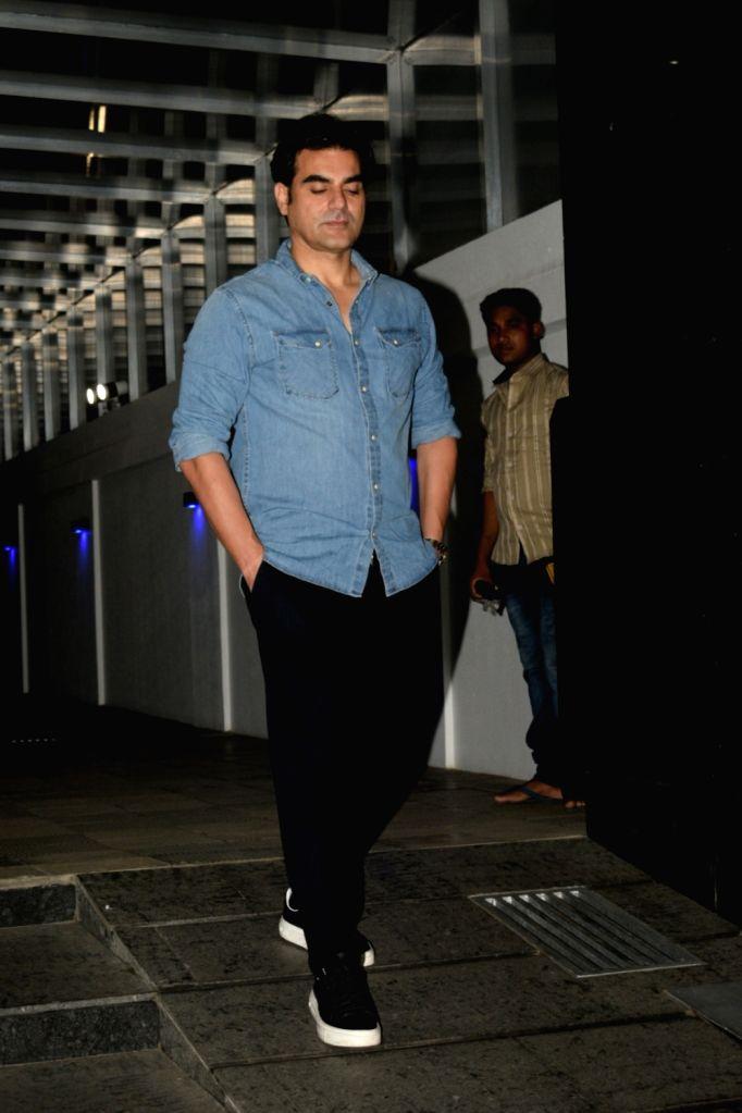 Actor Arbaaz Khan at the birthday celebrations of his girlfriend-Italian model Giorgia Andriani, in Mumbai, on May 20, 2019. - Arbaaz Khan