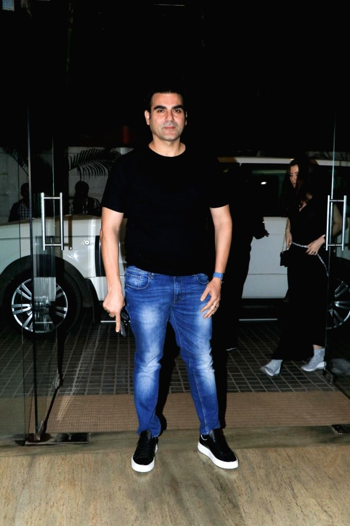 "Actor Arbaaz Khan at the screening of the upcoming film ""Ek Ladki Ko Dekha Toh Aisa Laga"" in Mumbai, on Jan 30, 2019. - Arbaaz Khan"