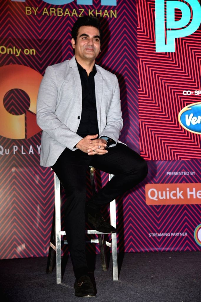 "Actor Arbaaz Khan during the debut of his celebrity chat show ""Pinch"" in Mumbai, on March 6, 2019. - Arbaaz Khan"