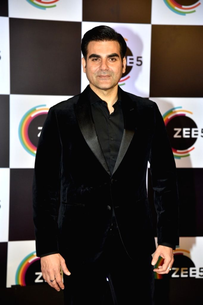 Actor Arbaaz Khan on the red carpet of Zee5's first anniversary celebrations in Mumbai, on Feb 14, 2019. - Arbaaz Khan