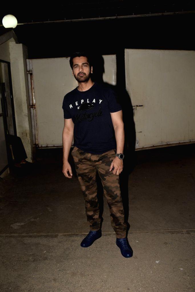 "Actor Arjan Bajwa at the screening of an upcoming film ""Mere Pyare Prime Minister"" in Mumbai, on March 14, 2019. - Arjan Bajwa"