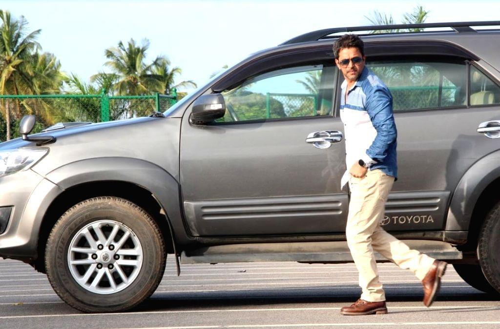 Actor Arjun during the Telugu film Kurukshetram. - Arjun
