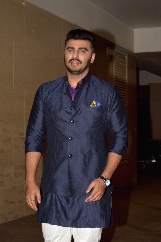 Actor Arjun Kapoor at the Diwali bash of actor Jackky Bhagnani in Mumbai on Oct 25, 2019. - Arjun Kapoor