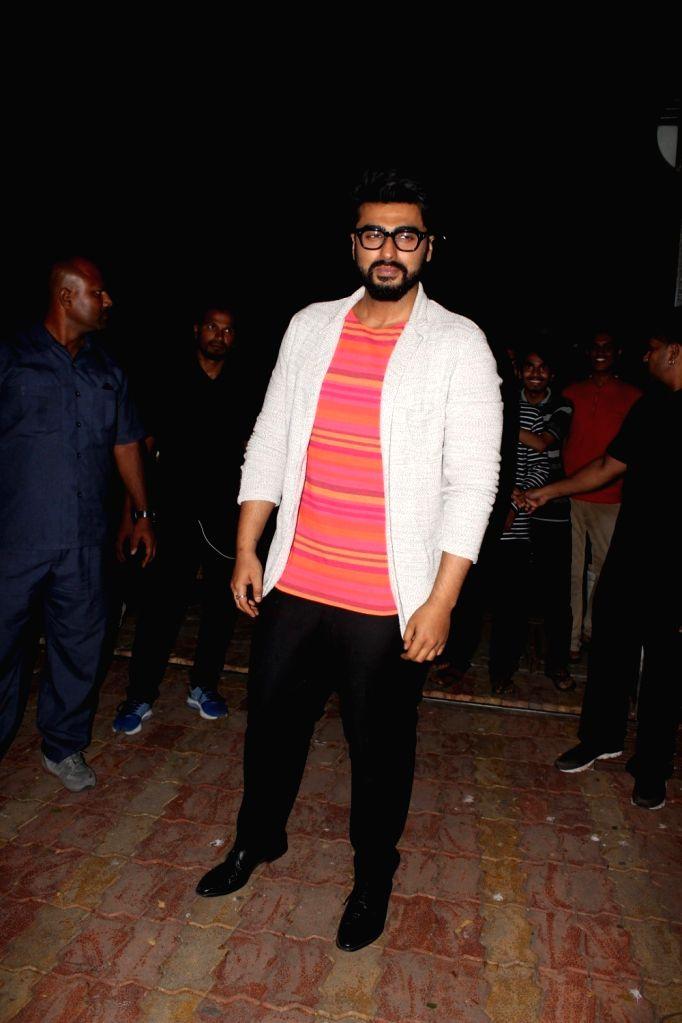 "Actor Arjun Kapoor at the launch of Chetan Bhagat's book ""Half Girlfriend""  in Mumbai on May 8, 2017. - Arjun Kapoor"