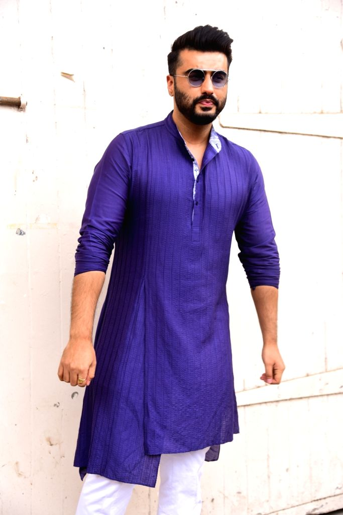 """Actor Arjun Kapoor at the promotions of upcoming film """"Panipat"""" in Mumbai on Dec 3, 2019. - Arjun Kapoor"""