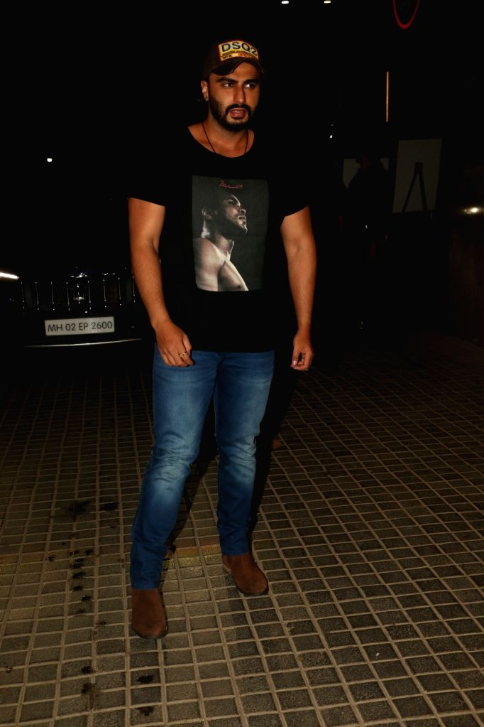 "Actor Arjun Kapoor at the screening of his upcoming film ""India's Most Wanted"" in Mumbai, on May 22, 2019. - Arjun Kapoor"