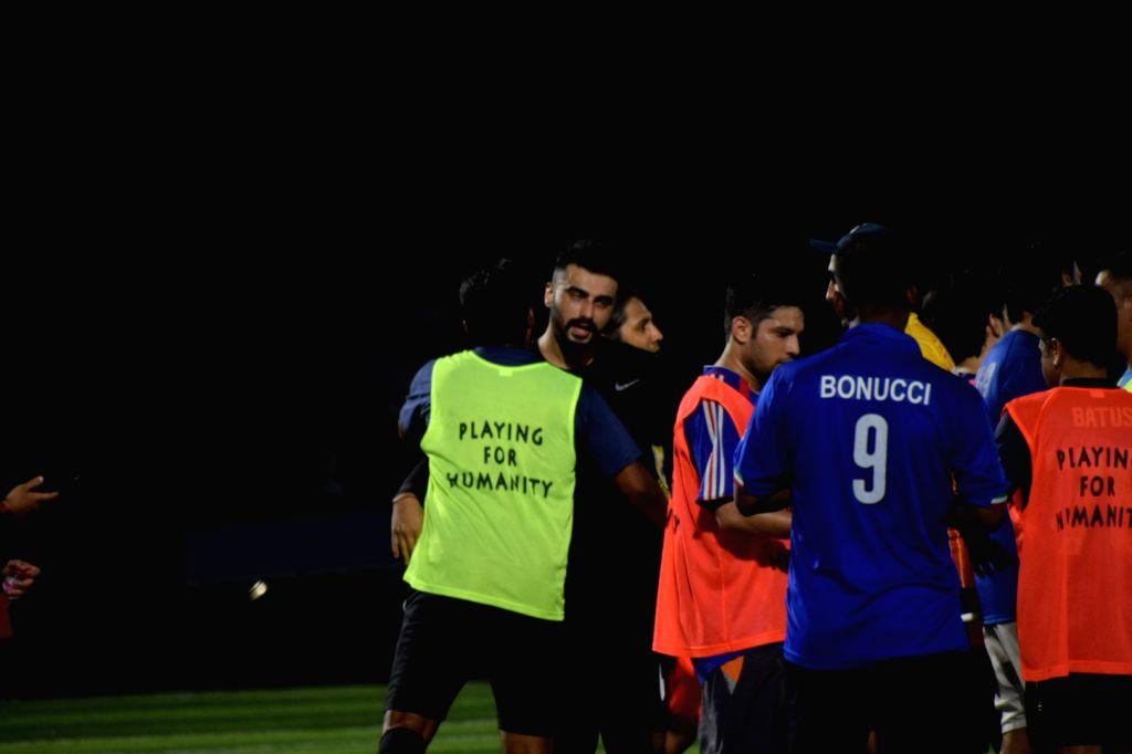 Actor Arjun Kapoor during a Football match at Juhu in Mumbai on Oct 6, 2019. - Arjun Kapoor