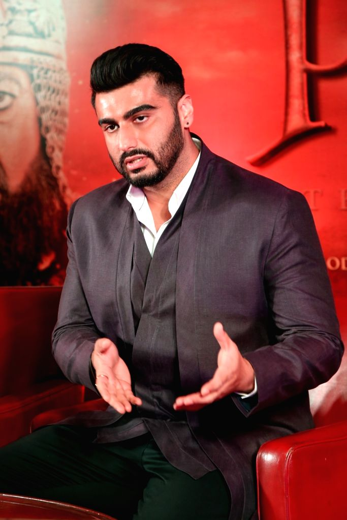 """Actor Arjun Kapoor during a press conference organised to promote upcoming film """"Panipat"""" in New Delhi on Nov 29, 2019. - Arjun Kapoor"""