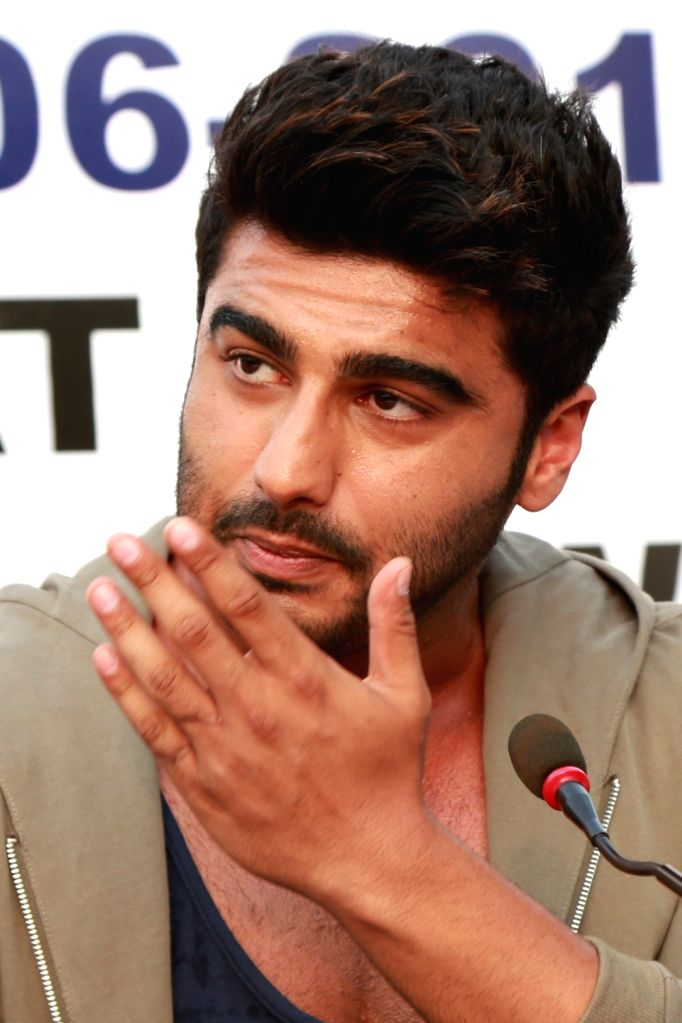 Actor Arjun Kapoor during a Road Safety Awareness Campaign organised in New Delhi on June 28, 2016. - Arjun Kapoor