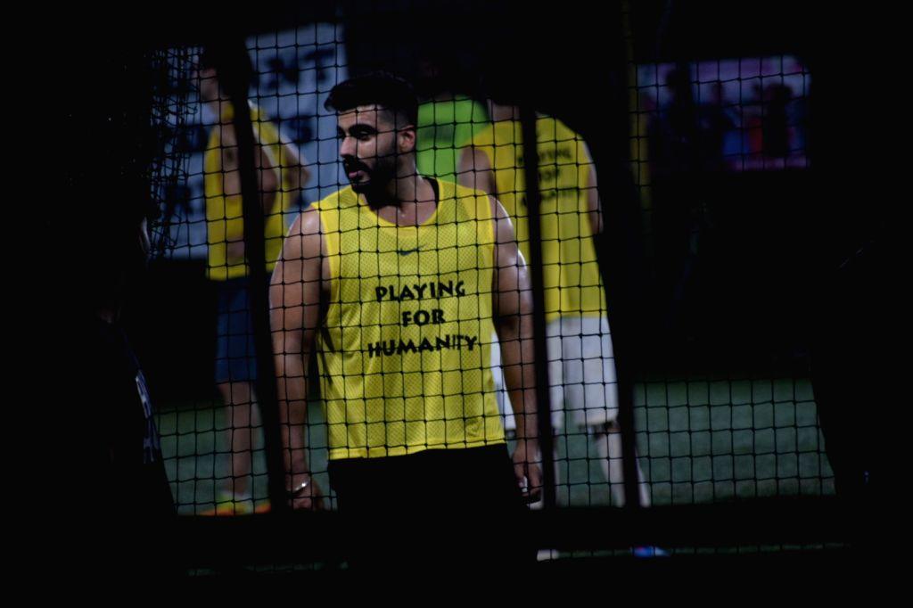 Actor Arjun Kapoor during football match in Mumbai's Juhu on April 15, 2018 . - Arjun Kapoor