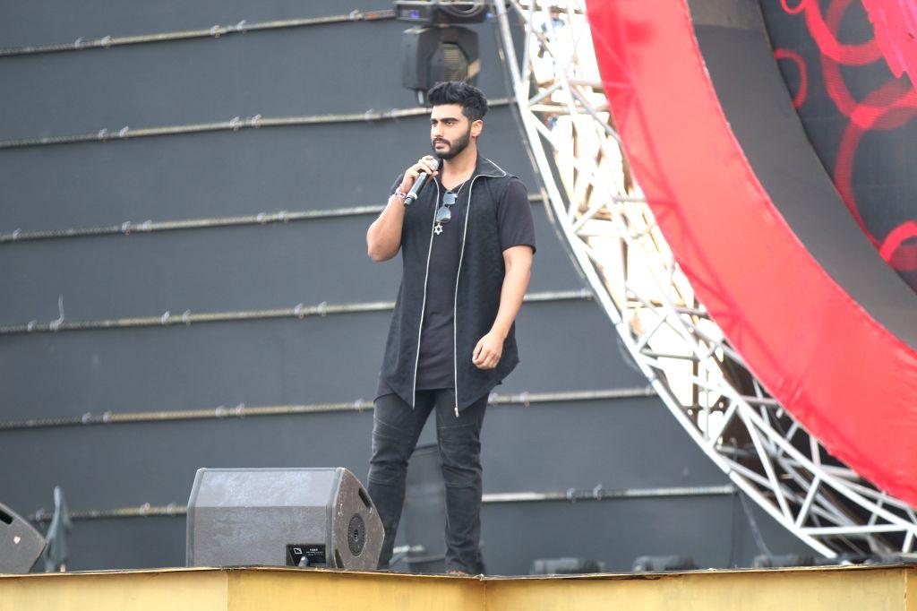 Actor Arjun Kapoor during the Global Citizen Festival India 2016, in Mumbai on Nov 19, 2016. - Arjun Kapoor