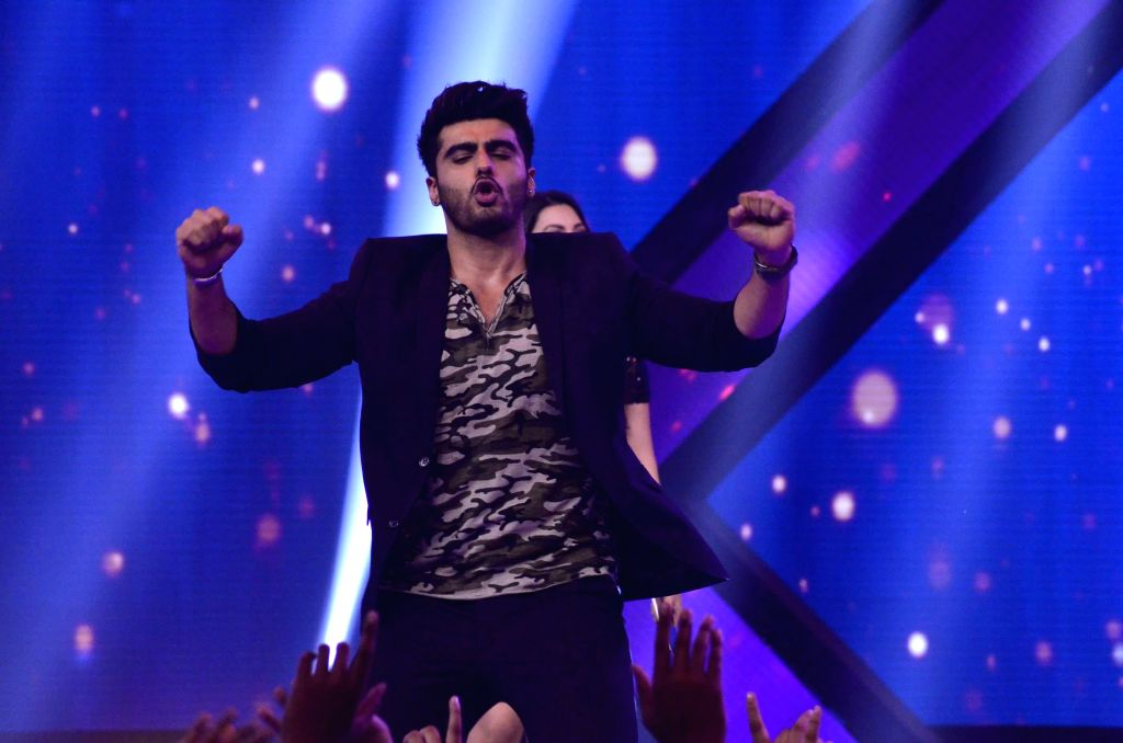 Actor Arjun Kapoor during the promotion of film Finding Fanny on the sets of reality show Indias Raw Star in Mumbai on September 8, 2014. - Arjun Kapoor
