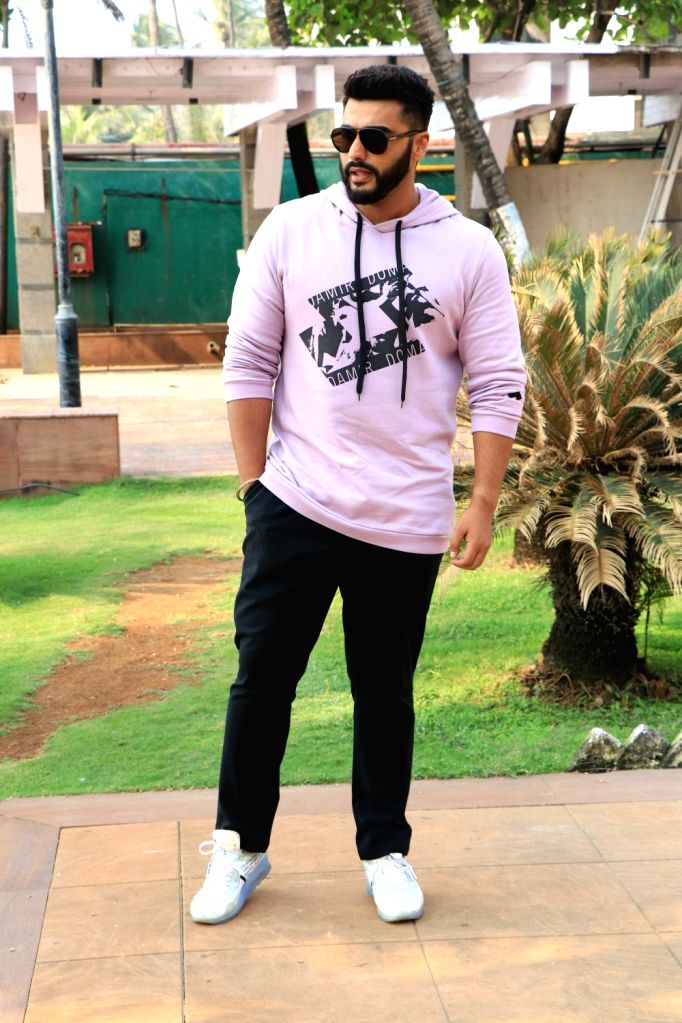"Actor Arjun Kapoor during the promotion of his upcoming film ""Namaste England"" in Mumbai on Oct 4, 2018. - Arjun Kapoor"